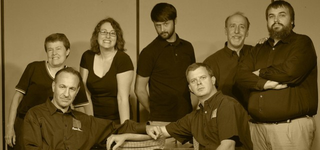 The troupe in Improv Sepia Tone.